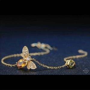 1.0 CT Natural Yellow Citrine 🐝 Bracelet 1001050